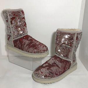 UGG Sequins Sparkle Short Boots Sz 10 or 41